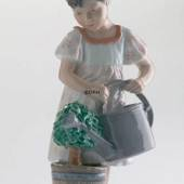 Girl with watering can, Royal Copenhagen figurine