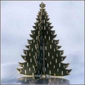 Royal Copenhagen Christmas tree, brass, large