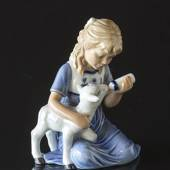 Girl with lamb, Royal Copenhagen figurine