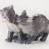 Two arctic fox cubs, Royal Copenhagen figurine