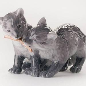 Two arctic fox cubs, Royal Copenhagen figurine | No. 1249445 | DPH Trading