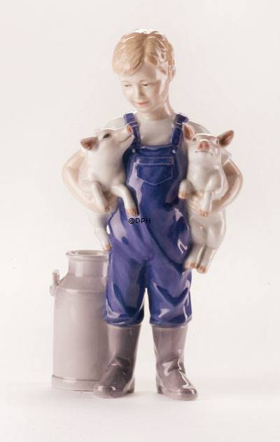 Boy With Two Piglets Royal Copenhagen Figurine No 1249449 Dph Trading