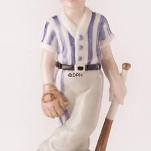 Baseball player, Royal Copenhagen figurine | No. 1249455 | DPH Trading