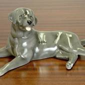 Black Labrador, Royal Copenhagen dog figurine
