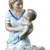 Mother with baby on lap, Royal Copenhagen figurine