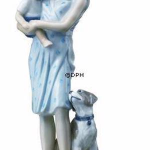 Mother with baby and dog, Royal Copenhagen figurine | No. 1249546 | DPH Trading