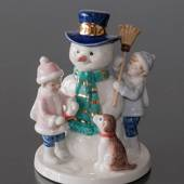 Clara & Peter with snowman, Royal Copenhagen figurine