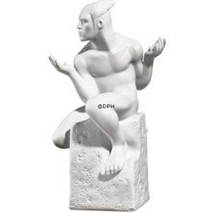 Zodiac Figurines, Gemini (22nd May to 21st June), male, Royal Copenhagen figurine | No. 1249615 | Alt. 1017319 | DPH Trading