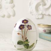 Spring bonbonniere with Purple Primrose, small, Royal Copenhagen Easter Egg...