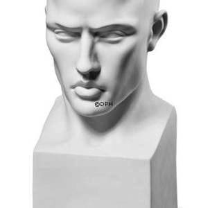 Perfectio bust of man, Royal Copenhagen figurine, white | No. 1249660 | DPH Trading