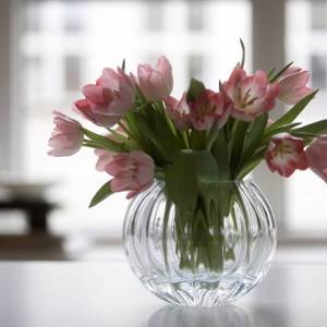 Fluted glass vase, Royal Copenhagen