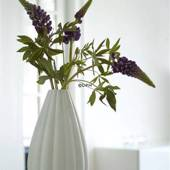 Fluted porcelain vase, Royal Copenhagen