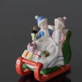 Clara & Peter with sleigh, Royal Copenhagen figurine