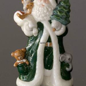 The Annual Santa 2002, A Visit from Santa, figurine, green, Royal Copenhage...