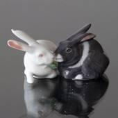 Pair of Rabbits, Royal Copenhagen rabbit figurine