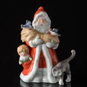 The Annual Santa 2010, Santa with cat, Royal Copenhagen