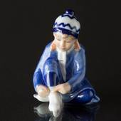 Royal Copenhagen Annual Figurine 2016, girl with ice skates