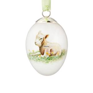 Easter egg with lamb, Royal Copenhagen Easter Egg 2013 | Year 2013 | No. 1249923 | Alt. R1249923 | DPH Trading