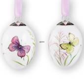 Easter eggs with purple and yellow butterflies, 2 pcs., Royal Copenhagen Ea...