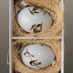 Easter eggs with birds, swollow and vibe, 2 pcs., Royal Copenhagen Easter Egg 2014 | Year 2014 | No. 1249941 | Alt. R1249941 | DPH Trading