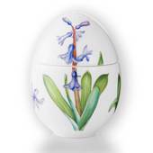 Easter egg, bonbonniere standing with hyacinth, Royal Copenhagen Easter Egg...