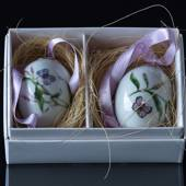 Butterflies and bistort porcelain egg, 2 pcs. Royal Copenhagen Easter Egg 2...