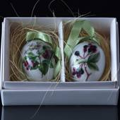 Porcelain egg with branches, 2 pcs. Royal Copenhagen Easter Egg 2015