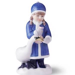 Royal Copenhagen Annual Figurine 2017, girl with swan | Year 2017 | No. 1249983 | Alt. 1021110 | DPH Trading