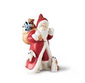 2017 The Annual Santa, Santa with gifts and dog, figurine