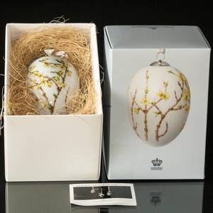 Easter egg with forsythia, large, Royal Copenhagen Easter Egg 2018 | Year 2018 | No. 1249997 | Alt. 1024789 | DPH Trading