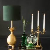 Table lamp Brass pineapple without lampshade (Expected for delivery mid Nov...