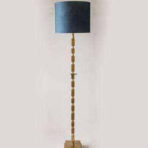 Floor lamp brass finish with rectangles without lampshade