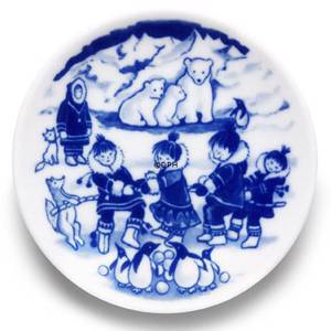 2005 The Children's Christmas plate 1st day issue plate with plaq., Royal C...