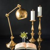 LARGE Table lamp Brass Finish 71cm, Reading Lamp