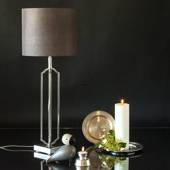 Table lamp Matte Nickel Finish without lampshade, 57 cm