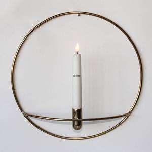 Circular Candleholder in Brass finish for the Wall | No. 12520 | Alt. 52-697-33 | DPH Trading