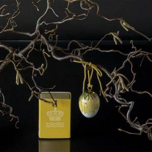 Easter egg with dandelion petals, Royal Copenhagen Easter Egg 2020 | Year 2020 | No. 1252025 | Alt. 1051076 | DPH Trading