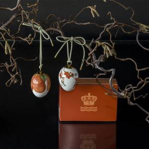 Easter egg with quince and quince petals, 2 pcs., Royal Copenhagen Easter Egg 2020 | Year 2020 | No. 1252028 | Alt. 1051079 | DPH Trading