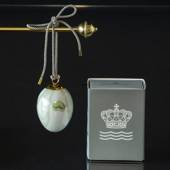 Easter egg with snowdrop petals, Royal Copenhagen Easter Egg 2021