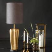 Table lamp Brass Finish without lampshade, 49 cm (small defects on this lam...