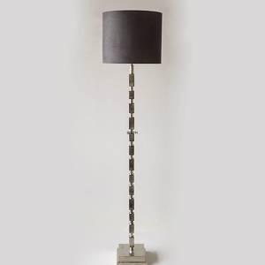 Floor lamp Nickel Finish (Rustik Silver Look) with rectangles without lamps...