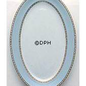 Liselund, oval Serving Dish, Light blue, Royal Copenhagen