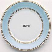 Liselund, Plate,Low profile, light blue