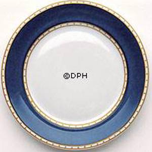 Liselund, Plate, Dark blue, Royal Copenhagen