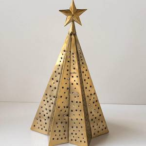 Christmas Tree in Gold Finish 56 cm, Large (Expected for delivery mid November) | No. 12734 | Alt. 71-863-56 | DPH Trading