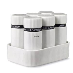 Function spicecontainers 6 pieces in tray, Royal Copenhagen