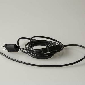 Black wire with switch 2.30 metre | No. 130 | DPH Trading