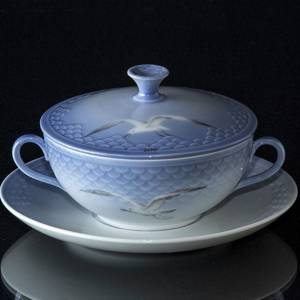 Seagull Service without gold bouillon cup, capacity 3 dl., Bing & Grondahl Royal Copenhagen | No. 1300106 | DPH Trading
