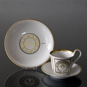 2001 Bing & Grondahl Christmas Cup w/dessert plate, set | Year 2001 | No. 1301049 | DPH Trading