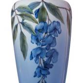Vase with wisteria , Royal Copenhagen